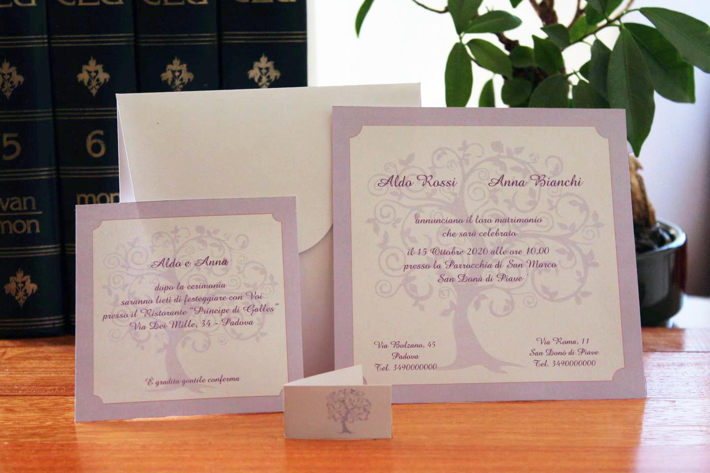 Stampa Partecipazioni Matrimonio.Partecipazioni Nozze Set Partecipazione Nozze 089
